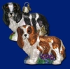 Item # 425067 - Blown Glass King Charles Spaniel Christmas Ornament