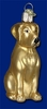 Item # 425072 - Blown Glass Yellow Labrador Christmas Ornament