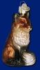 Item # 425087 - Blown Glass Fox Christmas Ornament