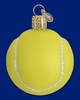 Item # 425090 - Blown Glass Tennis Ball Christmas Ornament