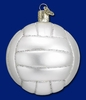 Item # 425096 - Blown Glass Volleyball Christmas Ornament