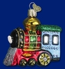 Item # 425098 - Blown Glass Small Locomotive Ornament