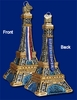Item # 425104 - Blown Glass Eiffel Tower Christmas Ornament