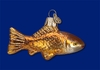 Item # 425162 - Blown Glass Goldfish Christmas Ornament