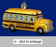 Item # 425168 - Blown Glass School Bus Ornament
