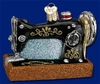 Item # 425172 - Blown Glass Sewing Machine Ornament