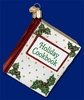 Item # 425184 - Blown Glass Holiday Cookbook Christmas Ornament