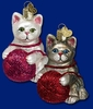 Item # 425187 - Blown Glass Playful Kitten Christmas Ornament