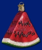 Item # 425200 - Blown Glass Watermelon Wedge Christmas Ornament