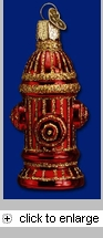 Item # 425206 - Blown Glass Fire Hydrant Christmas Ornament