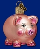 Item # 425210 - Blown Glass Piggy Bank Christmas Ornament