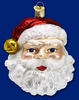 Item # 425213 - Blown Glass Jingle Bell Santa Christmas Ornament