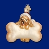 Item # 425216 - Blown Glass Santa Puppy Ornament