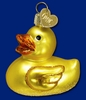 Item # 425218 - Blown Glass Rubber Ducky Christmas Ornament