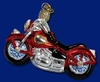 Item # 425219 - Blown Glass Motorcycle Christmas Ornament