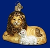 Item # 425222 - Blown Glass Lion & Lamb Christmas Ornament