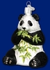 Item # 425233 - Blown Glass Panda Christmas Ornament