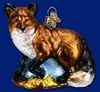 Item # 425235 - Blown Glass Red Fox Christmas Ornament