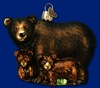 Item # 425237 - Blown Glass Bear With Cubs Ornament