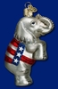 Item # 425238 - Blown Glass Republican Elephant Ornament