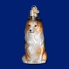Item # 425262 - Blown Glass Sheltie Christmas Ornament