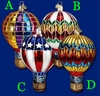 Item # 425274 - Blown Glass Hot Air Balloon Ornament