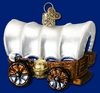 Item # 425290 - Blown Glass Covered Wagon Christmas Ornament