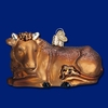 Item # 425300 - Blown Glass Ox Christmas Ornament