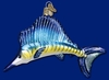 Item # 425317 - Blown Glass Sailfish Ornament