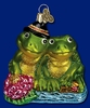 Item # 425322 - Blown Glass Froggy Love Ornament
