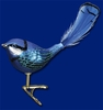 Item # 425346 - Blown Glass Fairy Wren Christmas Ornament