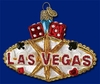 Item # 425350 - Blown Glass Las Vegas Sign Christmas Ornament