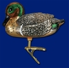 Item # 425366 - Blown Glass Green-Winged Teal Ornament