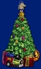 Item # 425377 - Blown Glass Christmas Morning Tree Christmas Ornament