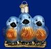 Item # 425402 - Blown Glass Feathered Friends Christmas Ornament