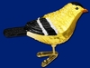 Item # 425405 - Blown Glass American Goldfinch Ornament
