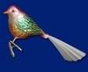 Item # 425435 - Blown Glass Chubby Birdie Ornament