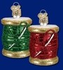 Item # 425436 - Blown Glass Spool Of Thread Christmas Ornament
