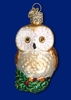 Item # 425451 - Blown Glass Christmas Owl Christmas Ornament