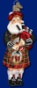 Item # 425454 - Blown Glass Highland Santa Ornament