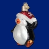 Item # 425458 - Blown Glass Dancing Penguin Ornament