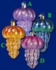 Item # 425478 - Blown Glass Jellyfish Christmas Ornament