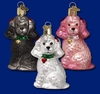 Item # 425479 - Blown Glass Poodle Christmas Ornament