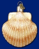 Item # 425481 - Blown Glass Clam Shell Ornament