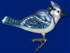 Item # 425503 - Blown Glass Bright Blue Jay Ornament
