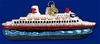 Item # 425544 - Blown Glass Cruise Ship Christmas Ornament