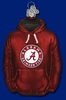 Item # 425550 - Blown Glass University of Alabama Crimson Tide Hoodie Ornament