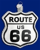 Item # 425639 - Blown Glass Historic Route 66 Sign Christmas Ornament