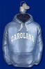 Item # 425651 - Blown Glass University of North Carolina Tar Heels Hoodie Christmas Ornament