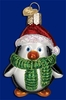 Item # 425656 - Blown Glass Playful Penguin Christmas Ornament